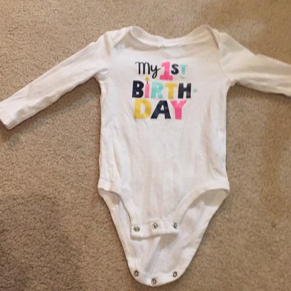 1d49f85deb27 Carter's Shirts & Tops | Baby Girl My First Birthday Onesie | Poshmark